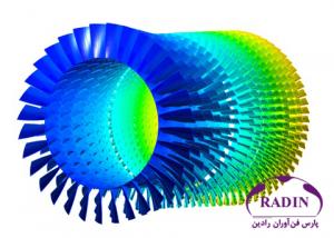 شبیه سازی سه بعدی کمپرسور توربین گاز GE