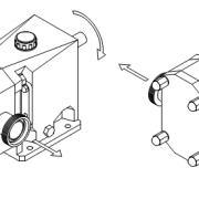 شکل 2‑2: نمایش ورودی و خروجی پمپ متناسب به جهت چرخش شفت