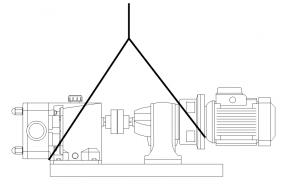 شکل 2‑4: نمایش نحوه صحیح بلند نمودن الکترو پمپ گشوارهای یا لوب