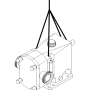 شکل 2‑3: نمایش نحوه صحیح بلند نمودن پمپ گشوارهای یا پمپ لوب