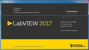 شکل 2‑5: نرمافزار لبویو نسخه LabVIEW 2017 SP1 بهتازگی ارائه شده است.